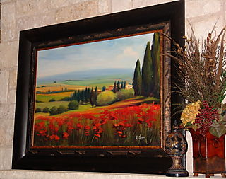 My first Tuscan landscape painting.